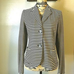 Talbots Striped Jacket Quality Career Casual Work